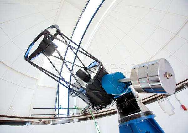 Telescoop koepel binnenkant witte hemel technologie Stockfoto © lunamarina