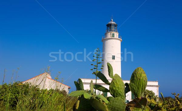 Formentera La Mola lighthouse near Ibiza Stock photo © lunamarina