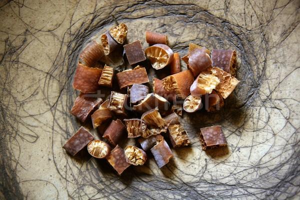 Kurutulmuş deniz yosunu doğal beslenme malzemeler soyut Stok fotoğraf © lunamarina