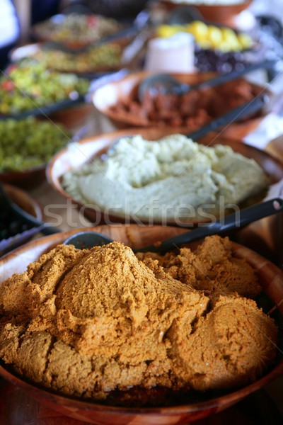 Detail of spices bowl in the marketplace Stock photo © lunamarina