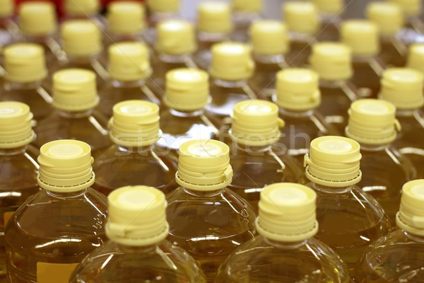 Stock photo: sunflower seed oil pattern factory warehouse store