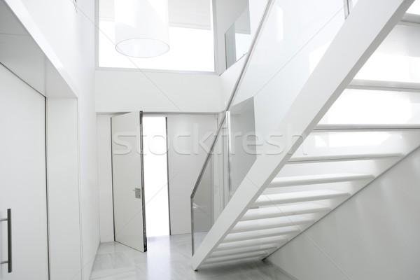домой интерьер лестниц белый архитектура лобби Сток-фото © lunamarina