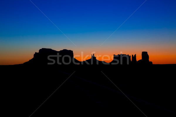 Stock photo: Sunrise on US 163 Scenic road to Monument Valley Park