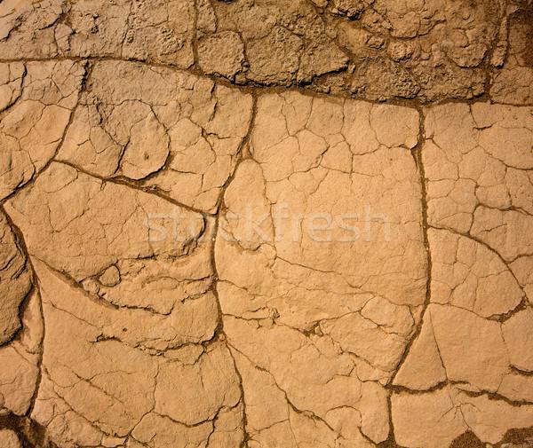 Secas argila macro pormenor morte vale Foto stock © lunamarina