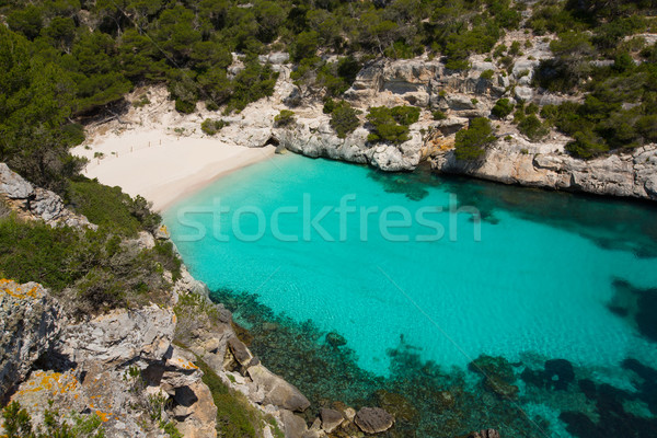Cala Macarelleta in Menorca at Balearic Islands Stock photo © lunamarina