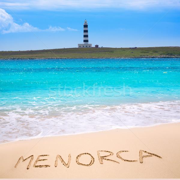 Menorca Punta Prima far illa del Aire island lighthouse Stock photo © lunamarina