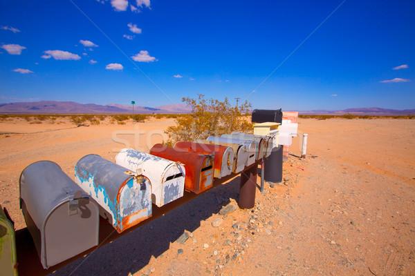 Grunge mail boxes in California Mohave desert USA Stock photo © lunamarina
