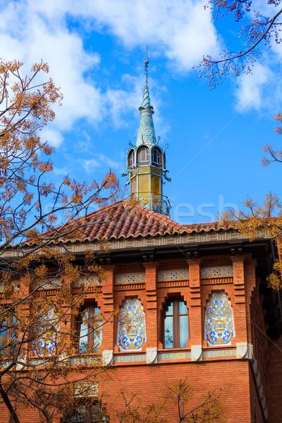 Валенсия центральный рынке башни подробность Испания Сток-фото © lunamarina