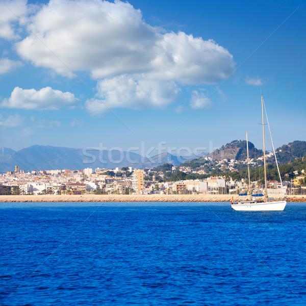 Horizonte mediterráneo mar España vista playa Foto stock © lunamarina