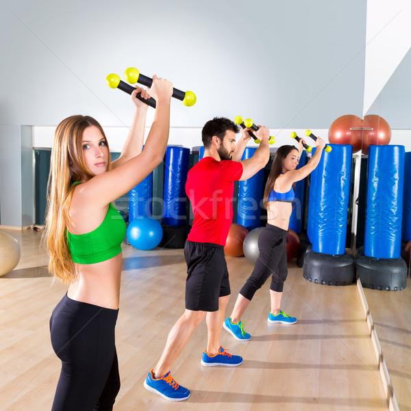 Zumba dans cardio mensen groep fitness Stockfoto © lunamarina