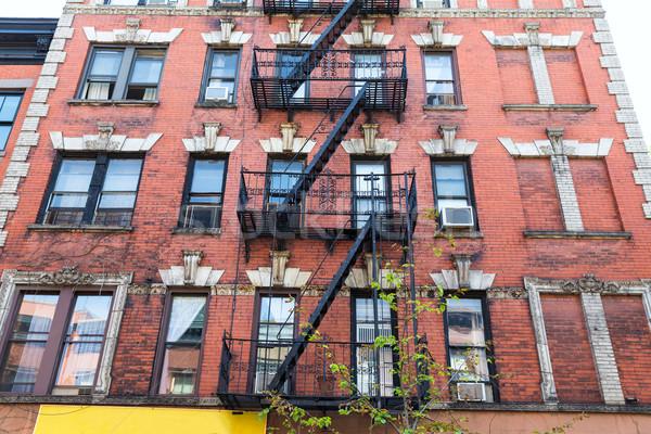 西 村 ニューヨーク マンハッタン 建物 建物 ストックフォト © lunamarina