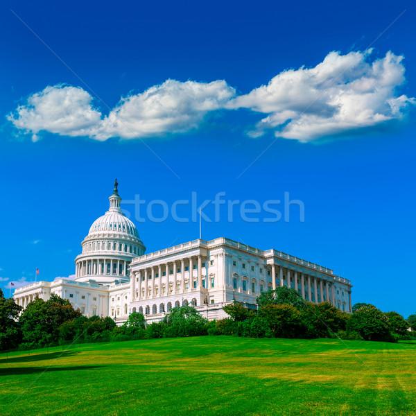здании Вашингтон США конгресс солнечный свет Сток-фото © lunamarina