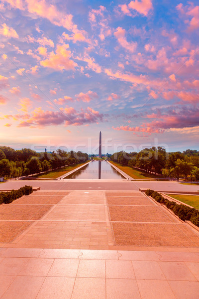 Washington Monument sunrise reflecting pool Stock photo © lunamarina