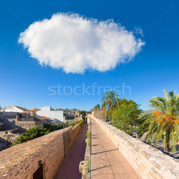 Stock photo: Alcudia Old Town fortress wall in Majorca Mallorca