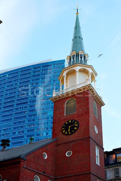 Boston eski güney toplantı ev Massachusetts Stok fotoğraf © lunamarina