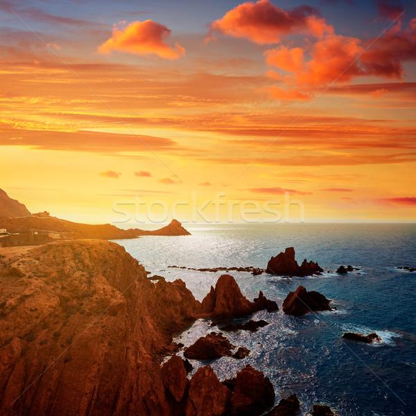 Almeria Cabo de Gata las Sirenas point rocks Stock photo © lunamarina