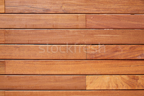Ipe teak wood decking fence pattern Stock photo © lunamarina