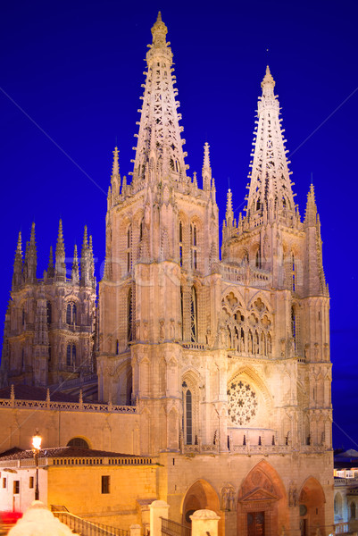 Burgos Cathedral facade in Saint James Way Stock photo © lunamarina