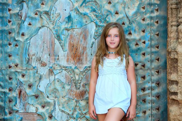 子供 少女 観光 地中海 旧市街 ドア ストックフォト © lunamarina