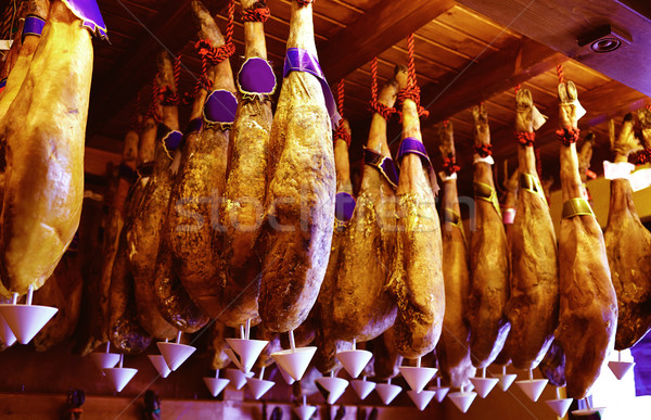 Salamanca jamon iberico iberian ham Spain Stock photo © lunamarina