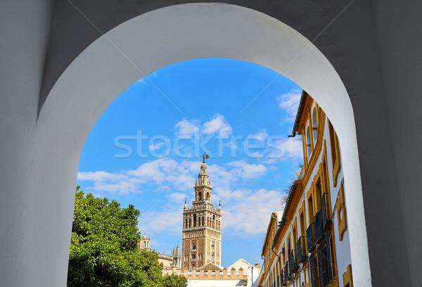 Cathédrale tour arc porte ville architecture Photo stock © lunamarina