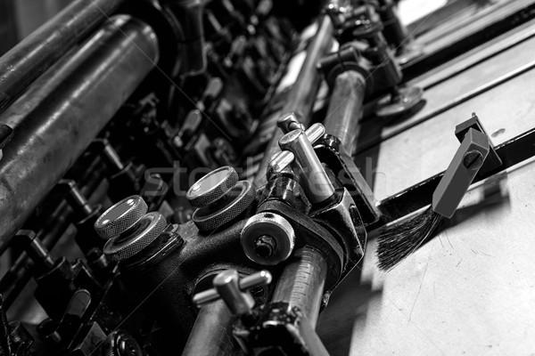 Stok fotoğraf: Yazıcı · silindir · makine · baskı · fabrika · iş