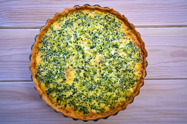 Broccoli quiche french recipe homemade Stock photo © lunamarina