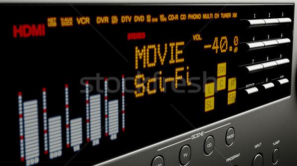 Heimkino Multimedia 3D-Darstellung Musik Film home Stock foto © Lupen