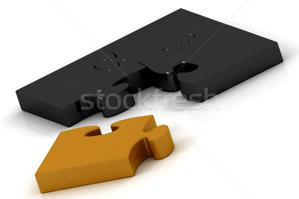 черный оранжевый головоломки белый шаблон играх Сток-фото © Lupen