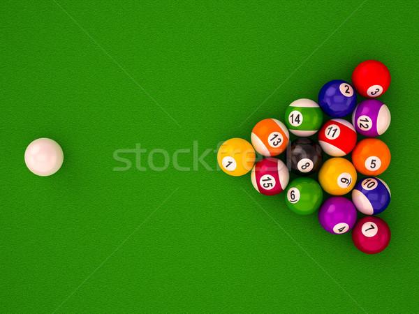 Biljart nummers witte sport kunst Stockfoto © Lupen