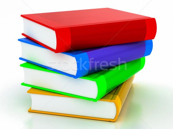 multi-colored books Stock photo © Lupen