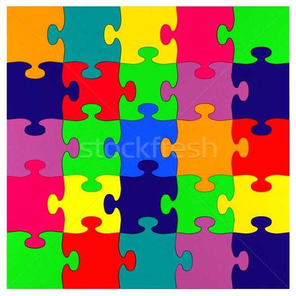 радуга головоломки белый шаблон играх объекты Сток-фото © Lupen