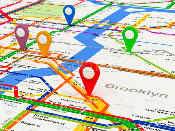 New York navigation subway map Stock photo © Lupen
