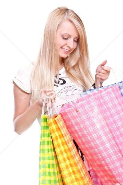 красивой торговых белый красоту сумку Сток-фото © Lupen