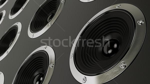 Geluid sprekers stereo partij dans Stockfoto © Lupen
