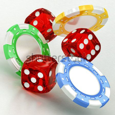 dice, chips and cards Stock photo © Lupen