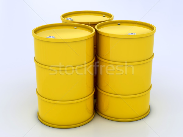 желтый стали химии барабан баррель топлива Сток-фото © Lupen