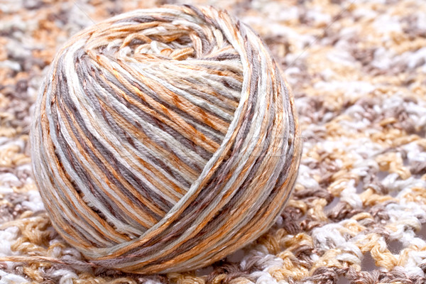 striped beige tangle of yarn Stock photo © Lupen