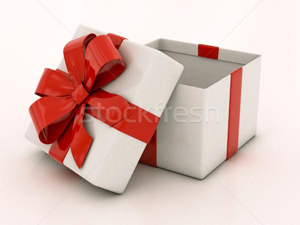 オープン 白 ギフトボックス パーティ 歳の誕生日 ストックフォト © Lupen