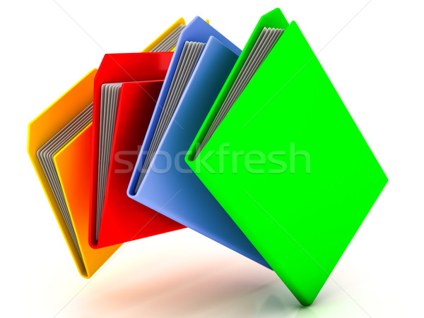 Mappen bestanden witte kantoor technologie Blauw Stockfoto © Lupen