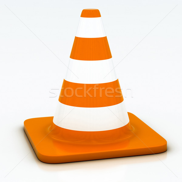 orange highway traffic cone Stock photo © Lupen