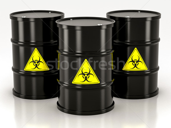 black biohazard barrel Stock photo © Lupen