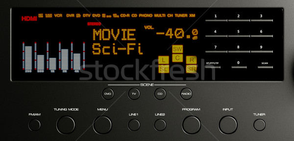 Home cinema multimedia 3d illustration muziek film home Stockfoto © Lupen