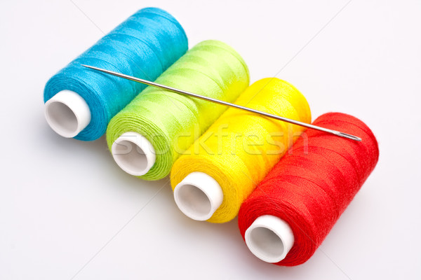 colored thread for sewing with needle Stock photo © Lupen
