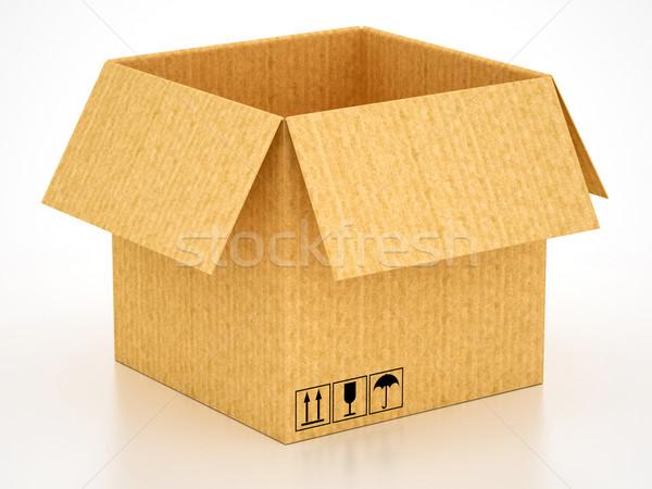 окна пакет картона белый почты Сток-фото © Lupen