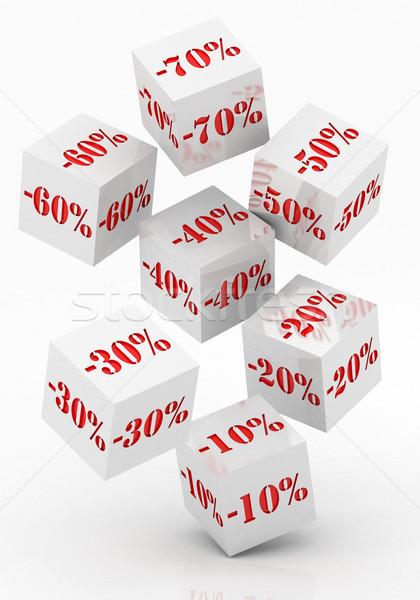 Verkoop procent korting witte winkelen Stockfoto © Lupen
