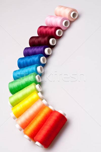 Kolorowy wątku szycia wielobarwny tęczy pracy Zdjęcia stock © Lupen