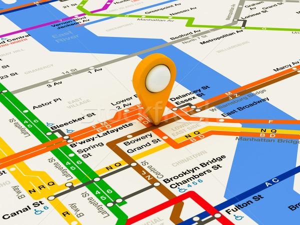 New York navigation subway map Stock photo © Lupen