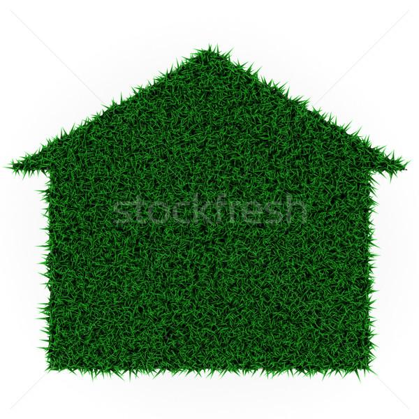 Эко трава дома белый здании строительство Сток-фото © Lupen