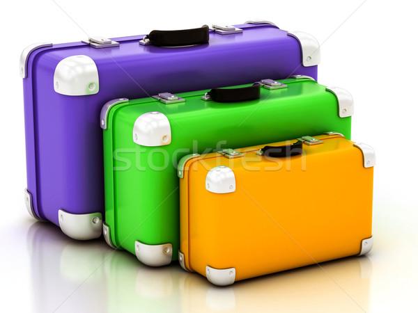 сумку белый зеленый синий путешествия Сток-фото © Lupen